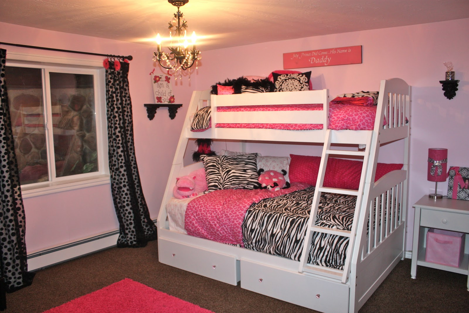 Girls bedroom ideas pink and black - Lilys Bedroom Revealed Wannabe Balanced Mom