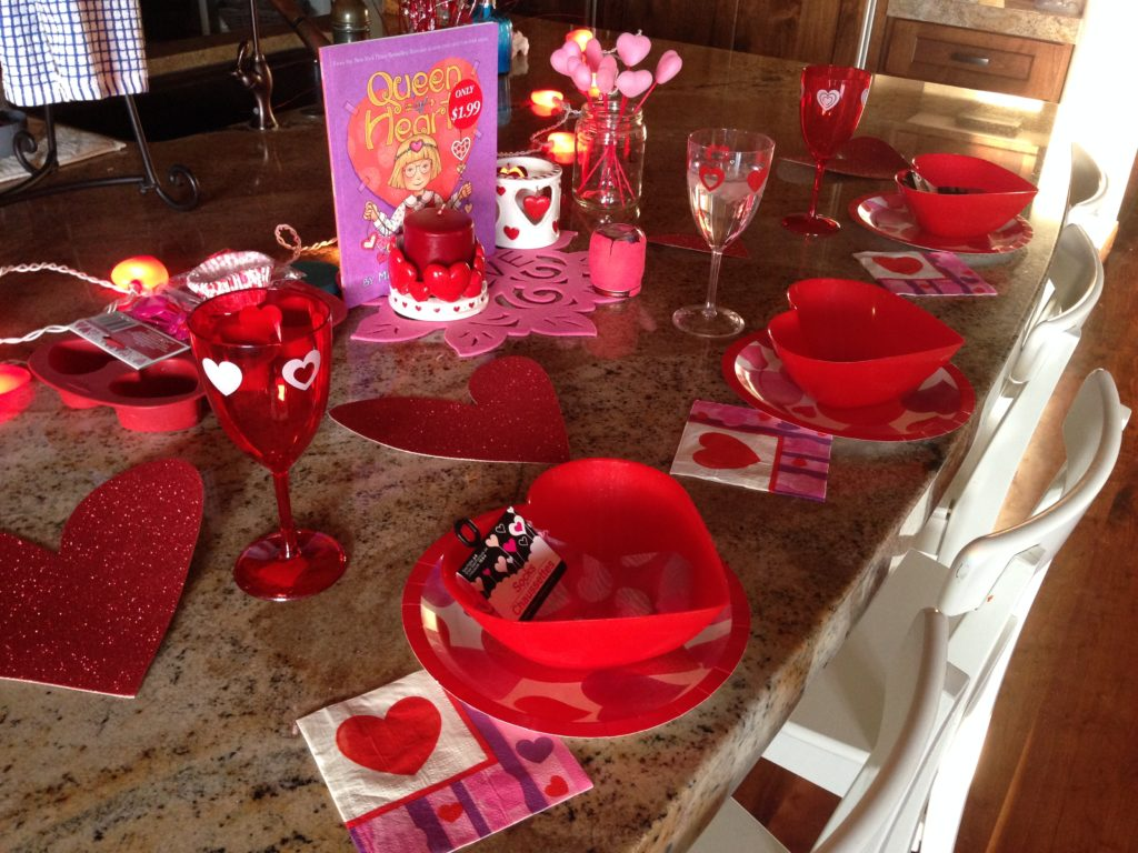 family valentines day dinner idea: the setting