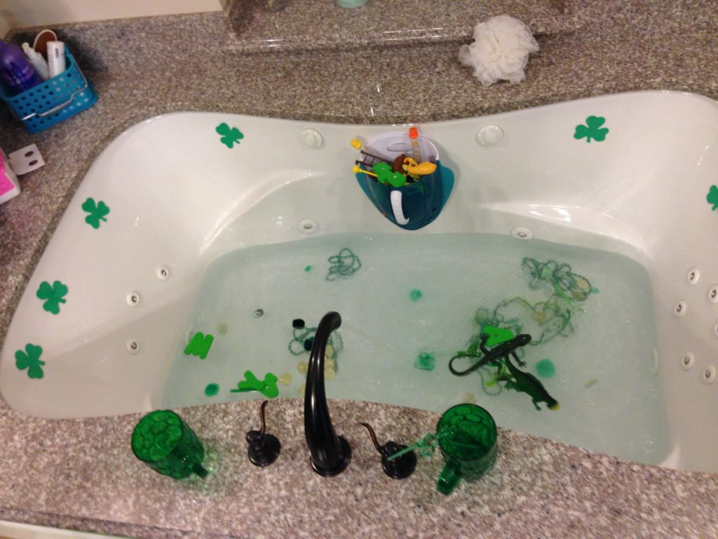 St Patrick Day Activities: Green Bath
