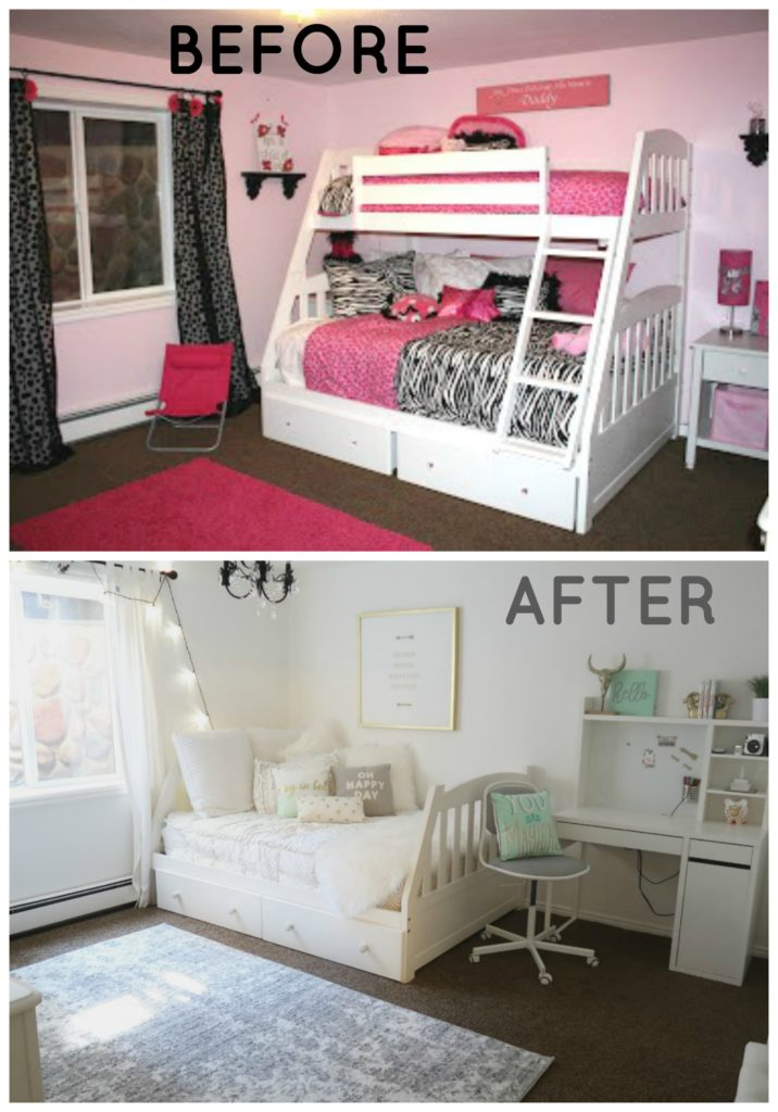 Cute Teen Bedroom Reveal Makeover Wannabe Balanced Mom Simple Cute Teen Bedrooms